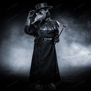 Steampunk Plague Doctor Cosplay Party Costume Set